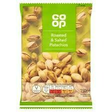 CO OP ROASTED & SALTED PISTACHIOS 150G