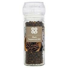 CO OP BLACK PEPPERCORNS DISPOSABLE MILL 50G