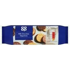 CO OP MILK CHOCOLATE DIGESTIVE BISCUITS 300G