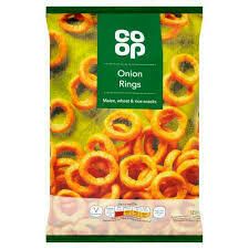 CO OP ONION RINGS  125G