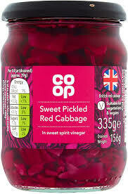 CO OP SWEET PICKLED CABBAGE 335G