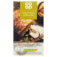 CO OP SAGE ONION STUFFING 85G