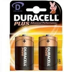 DURACELL BATTERIES D TWIN PACK ALKALINE