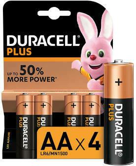 DURACELL SIMPLY AA ALKALINE 4PK