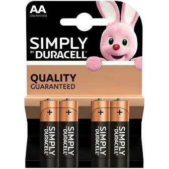 DURACELL SIMPLY AAA 4PK ALKALINE