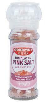 GOURMET KITCHEN HIMALAYAN PINK SALT GRINDER 110g
