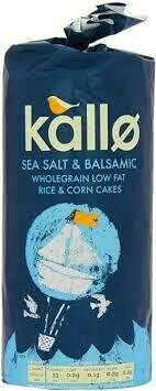 KALLO SEA SALT & BALSAMIC WHOLEGRAIN LOW 120G
