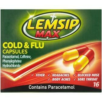 LEMSIP MAX COLD AND FLU CAPS 16S