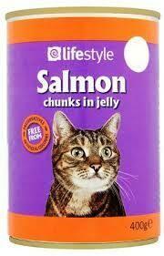 LIFESTYLE SALMON IN JELLY PREMIUM CAT FOOD 400ML