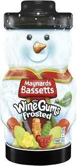 MAYNARDS BASSETTS WINE GUMS FROSTED JAR 495G