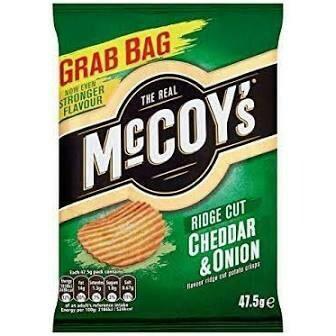 MCCOY'S CHEDDAR & ONION CRISPS 65G
