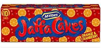MCVITIES JAFFA CAKES ORANGE/CRANBERRY 10PK
