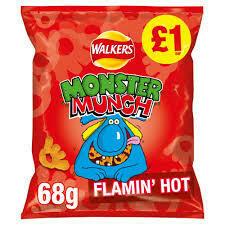 MONSTER MUNCH FLAMIN HOT  60G