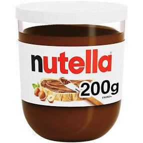 NUTELLA HAZELNUT CHOCOLATE SPREAD JAR 200G