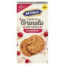 MCVITIES GRANOLA OAT BAKES CRANBERRY 140G