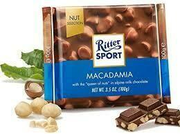 RITTER SPORT MACADAMIA AND MILK CHOCOLATE 100G