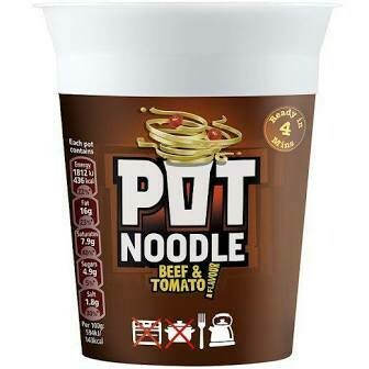 POT NOODLE BEEF AND TOMATO 90G