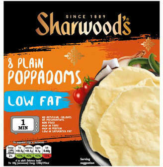 SHARWOOD PLAIN PAPPADUMS