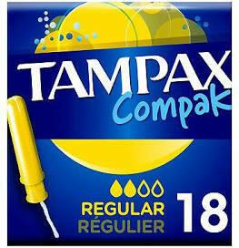 TAMPAX COMPAK REGULAR 18S YELLOW