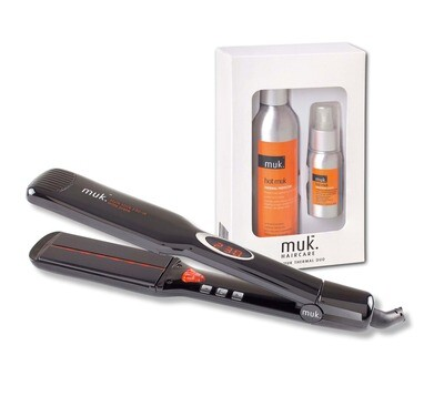 MUK Wide Plate Straightener  with FREE Hot MUK Duo Pack