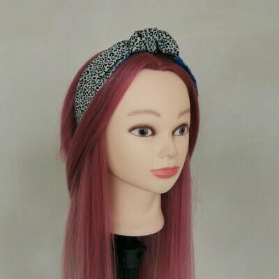 Grey Leopard Print Headband