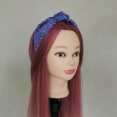 Purple Leopard Print Headband