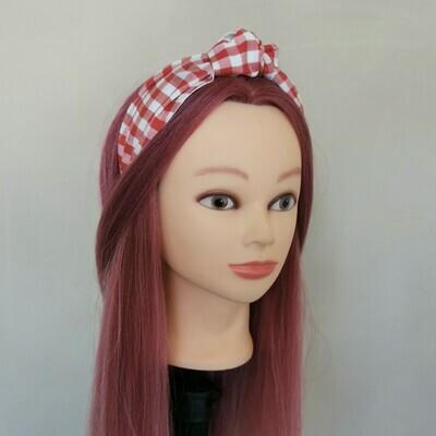 Red Gingham Headband
