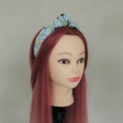 Grey/Yellow Paisley Headband