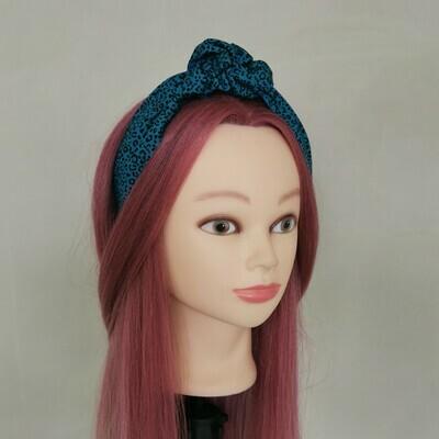 Teal Leopard Print Headband