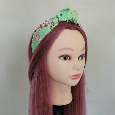 Green Floral Headband
