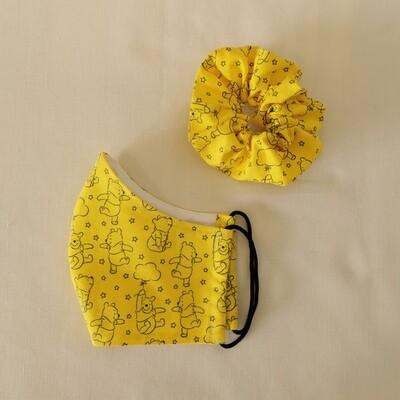 Winnie the Pooh Mask and Scrunchie Set