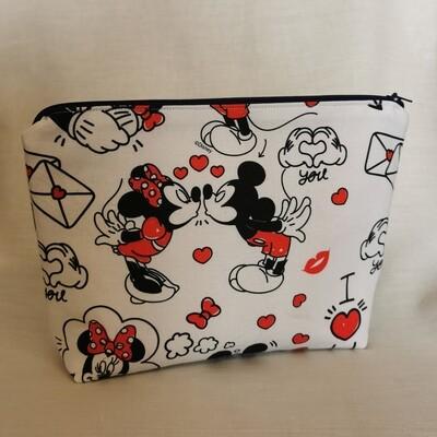 Mickey and Minnie Valentine's Make Up Bag