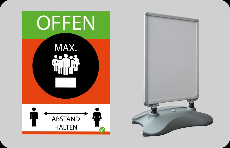 Kundenstopper inkl 2x DIN A1 Plakate