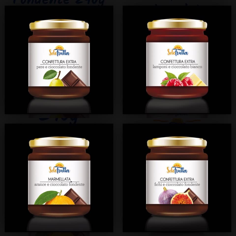 Confetture di frutta e cioccolato