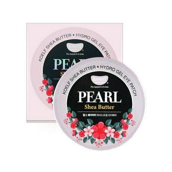 Гидрогелевые патчи для кожи вокруг глаз с жемчугом и маслом ши KOELF Pearl & Shea Butter Hydro G