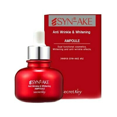 Сыворотка для лица SECRET KEY Syn-Ake Anti Wrinkle & Whitening Ampoule