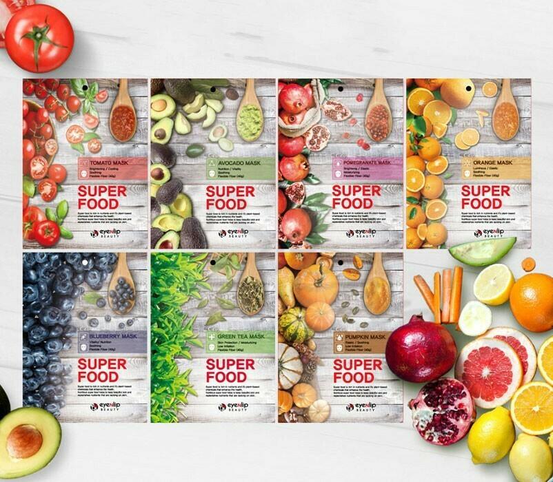 Серия тканевых масок EYENLIP SUPER FOOD MASK