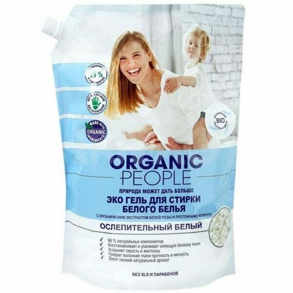 Гель для стирки Organic People для белого белья 2 л