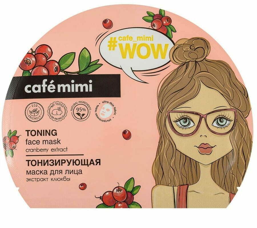 Кafe Мimi Маска для лица тканевая Тонизирующая Wow 22г