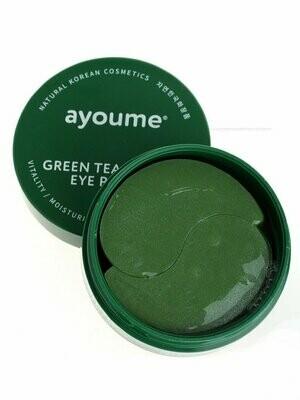 АЮМ Патчи для глаз от отечности с экстрактом зеленого чая и алоэ AYOUME GREEN TEA+ALOE EYE PATCH 1,4