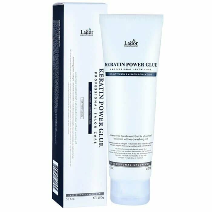 Кератиновая сыворотка-клей для волос Lador Keratin Power Glue Восстановление посеченных кончиков 150 г