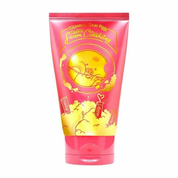 Elizavecca Обновляющая пенка для умывания Clean Piggy Pink Energy Foam Cleansing, 120ml