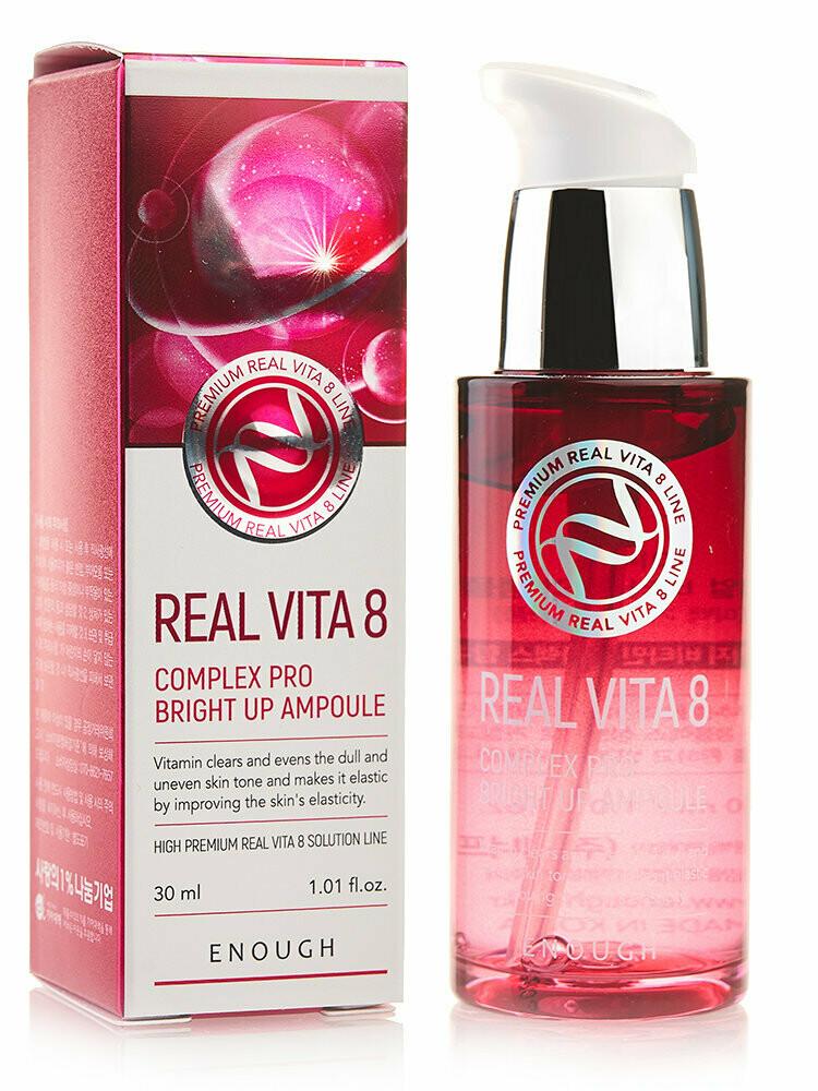 ENOUGH Сыворотка Real Vita 8 Complex Pro Bright up Ampoule, 30 мл.