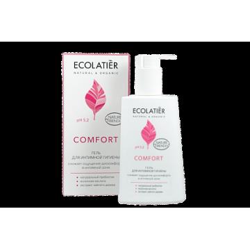 Ecolatier Гель для интимной гигиены Comfort с молочной кислотой и пробиотиком, 250 мл