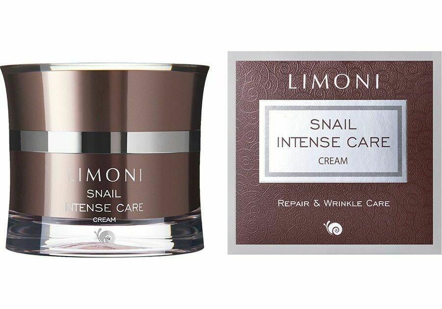Limoni Snail Intense Care Cream крем Интенсивный для лица с экстрактом секреции улитки 50ml