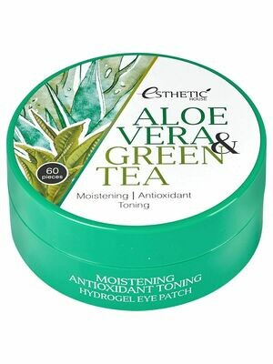 [ESTHETIC HOUSE] Гидрогелевые патчи для глаз АЛОЭ/ЗЕЛЕНЫЙ ЧАЙ Aloe Vera&Green Tea Hydrogel Eye Patch