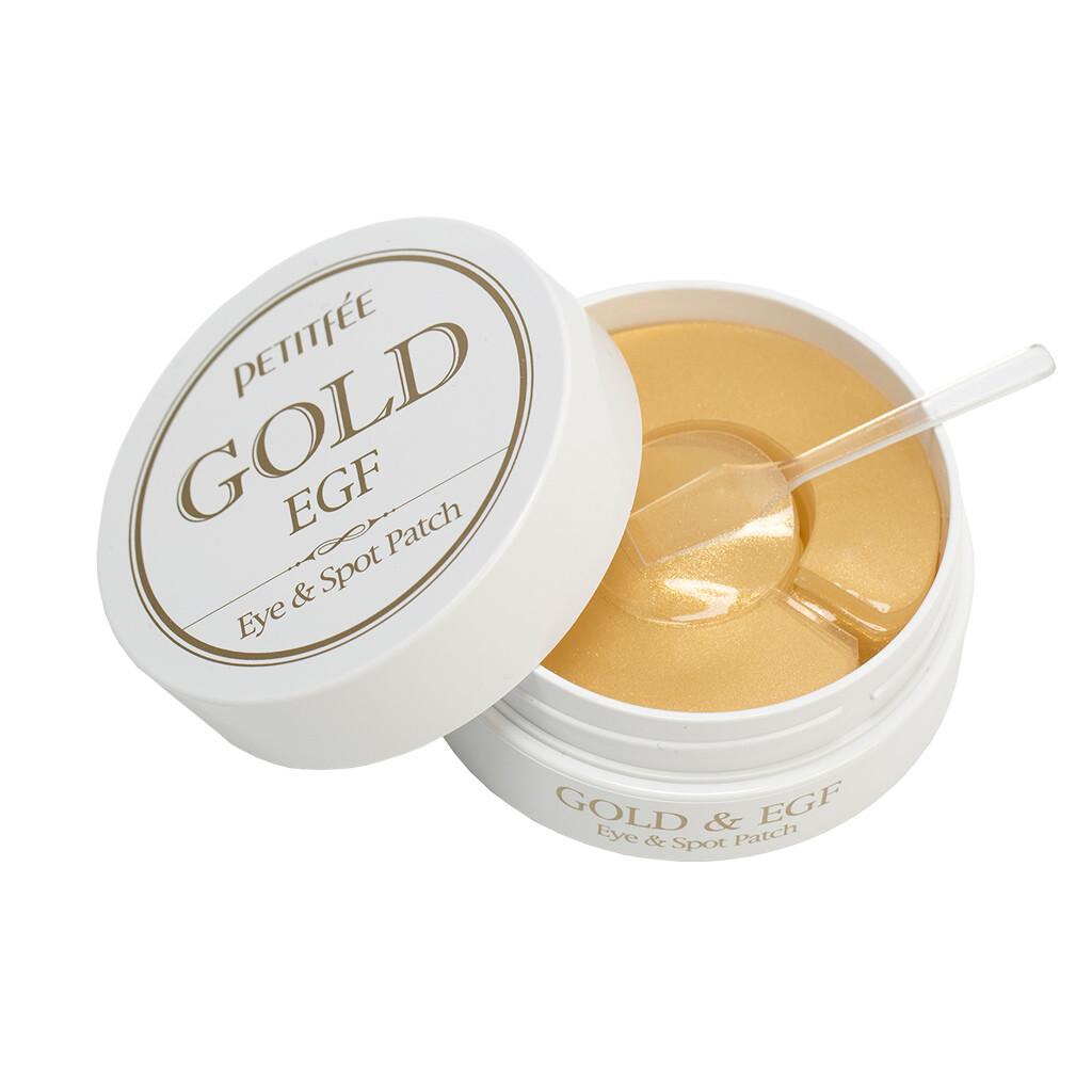 PETITFEE Патчи для области вокруг глаз и для точечного использвания с золотом и EGF, 60шт + 30шт