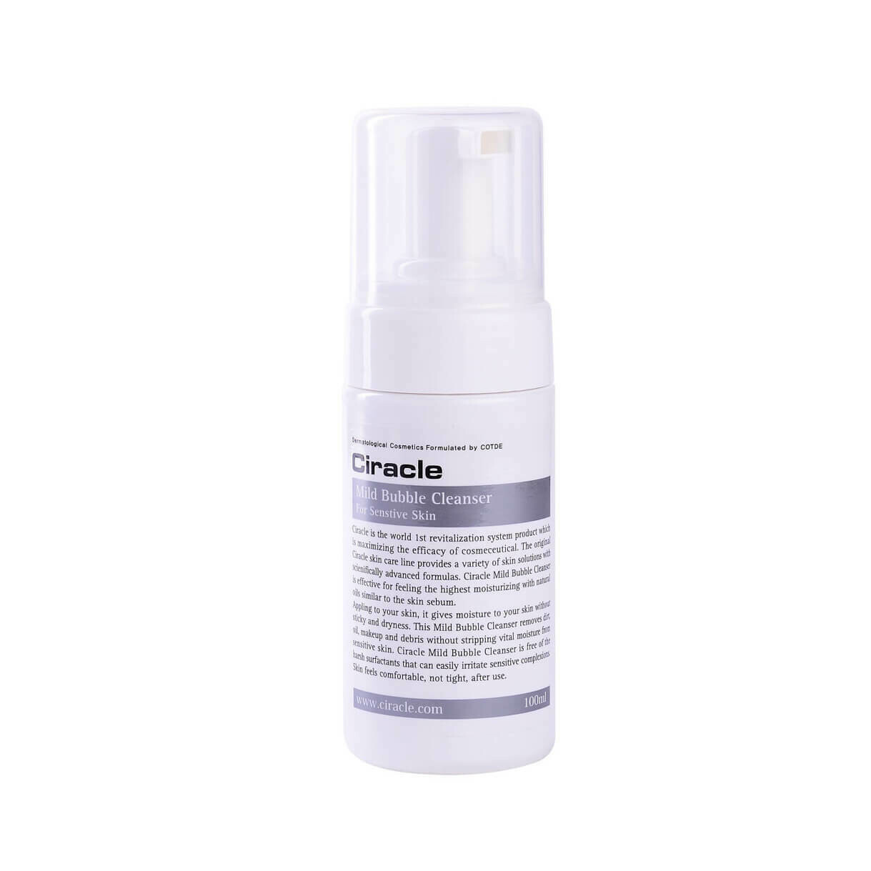 СР Cleansing Пенка для чувствительной кожи Ciracle Mild Bubble Cleanser 100мл