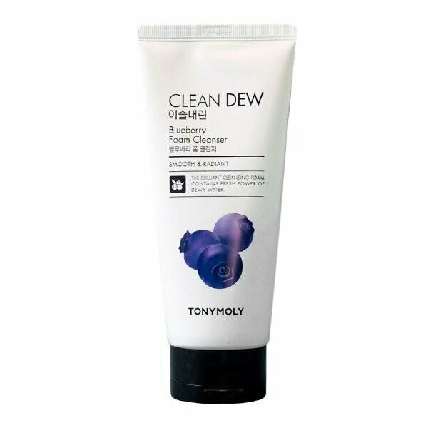 Tony Moly Clean Dew Blueberry Foam Cleanser, 180 мл.