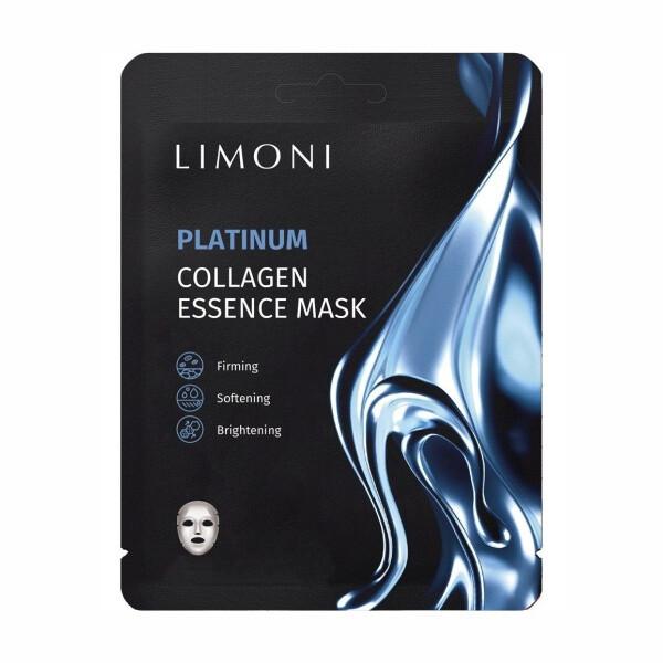LIMONI Маска для лица восстанавливающая с коллоидной платиной и коллагеном Platinum Collagen Essence